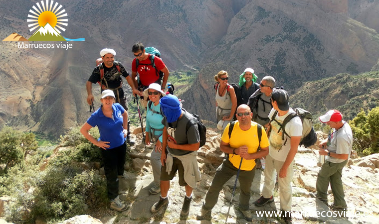 trekking cirque du taghia et la vallée des ait bouguemaz